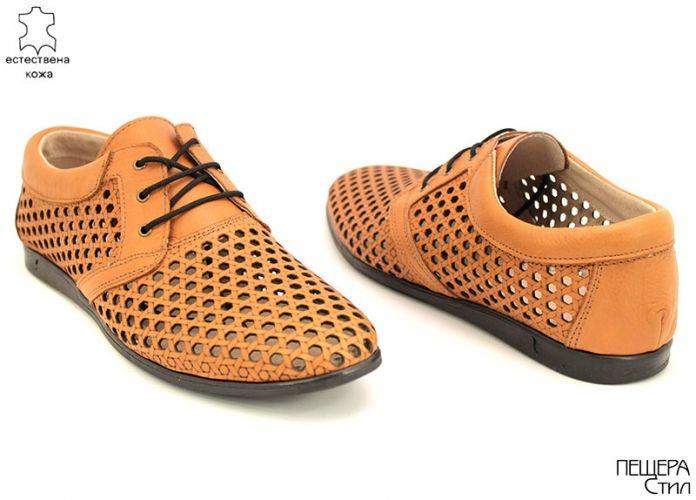 Мъжки летни обувки в светло кафяво Y 3007 SK