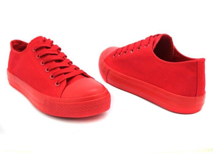 Дамски едноцветни кецове изцяло в червено  338 CV