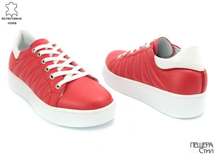 Дамски спортни обувки в червено D-129 CV