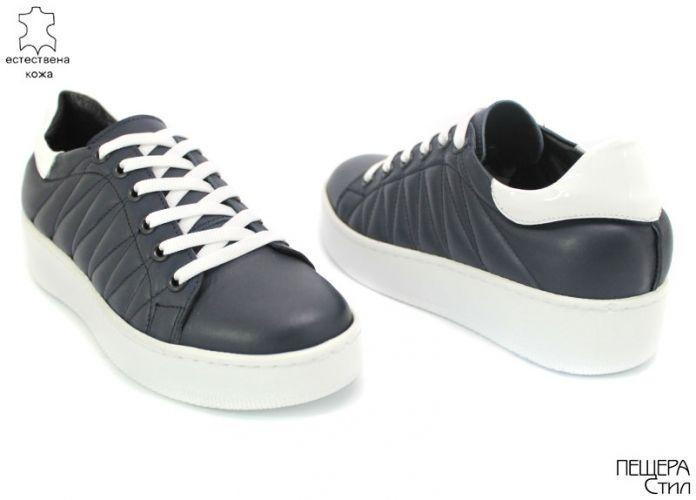 Дамски спортни обувки в тъмно синьо D-129 SN