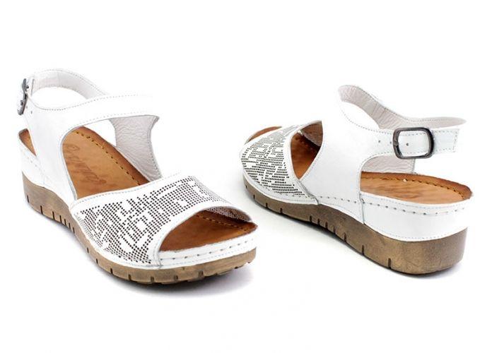 5076aca6eff Дамски сандали от естествена кожа в бяло M-10p B