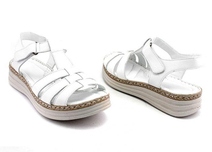 9ae5dec90dc Дамски сандали от естествена кожа в бяло 8606 B