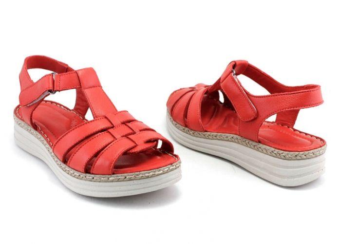 93666a87266 Дамски сандали от естествена кожа в червено 8606 CV