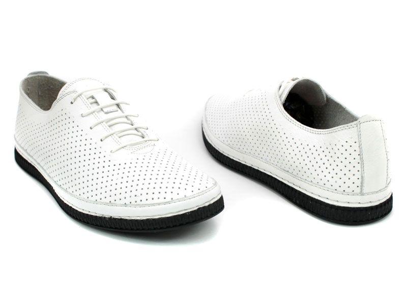43e9a49f462 Мъжки меки обувки от естествена кожа с перфорация в бяло 790p B