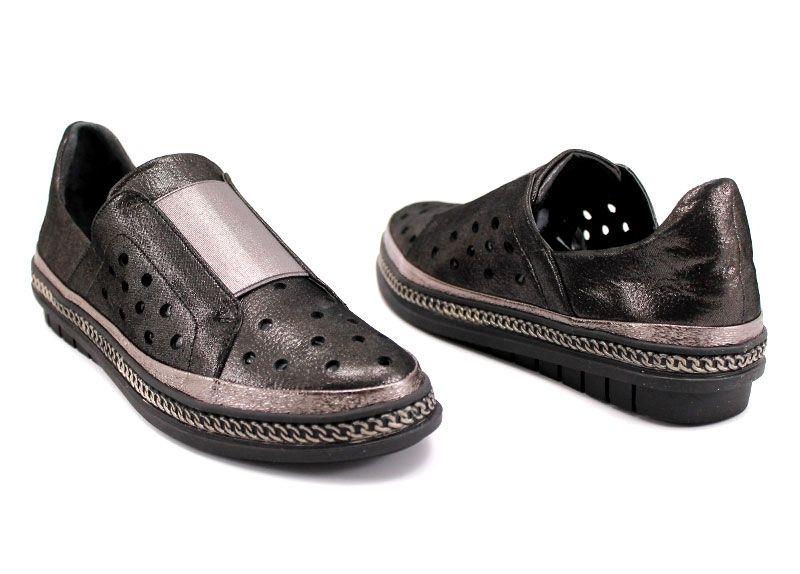fdee987eef2 Дамски обувки от естествена кожа в черно M-306 CH