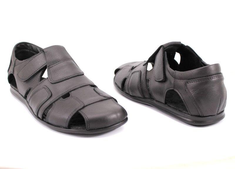 570338c6e81 Мъжки сандали от естествена кожа в черно Y 1104 CH