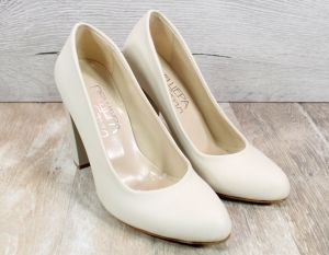 Дамски обувки на ток в бежово 706 BJ