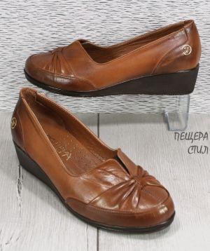 Дамски ежедневни обувки в светло кафяво 133 SK размери 36-42