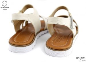 Дамски сандали в бежово M-445 BJ