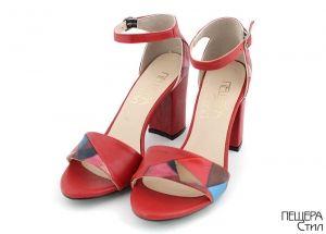 Дамски сандали на ток в червено FV 546 CV