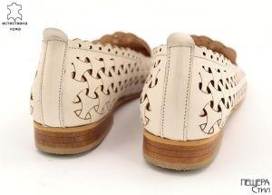 Дамски летни обувки на нисък ток в бежово 6767 BJ