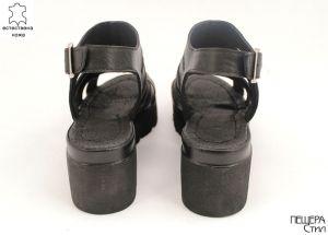 Дамски сандали от естествена кожа в черно ME 152 CH