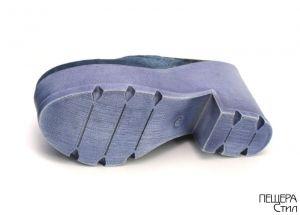 Дамско сабо от син дънков плат 1-4-28 SD