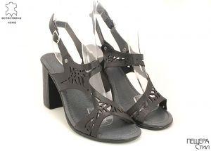 Дамски сандали на ток в бяло D-115 CH