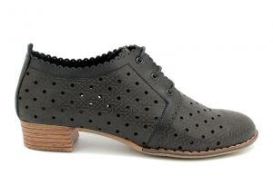 29092225c9b ... Дамски летни обувки с перфорация в черно D-122 CH ...