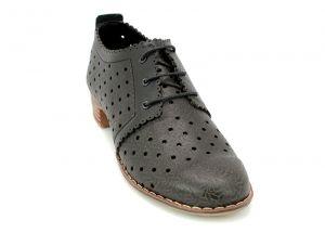 5f5bba15a4a ... Дамски летни обувки с перфорация в черно D-122 CH