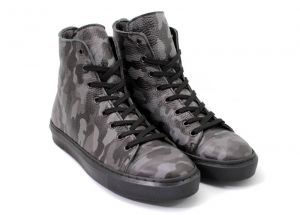 Laced Women's Camo Sneakers in camouflage leather - D-213KA